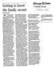 Getting-to-know-the-family-savant--CHICAGO-TRIBUNE--October-8,-2002